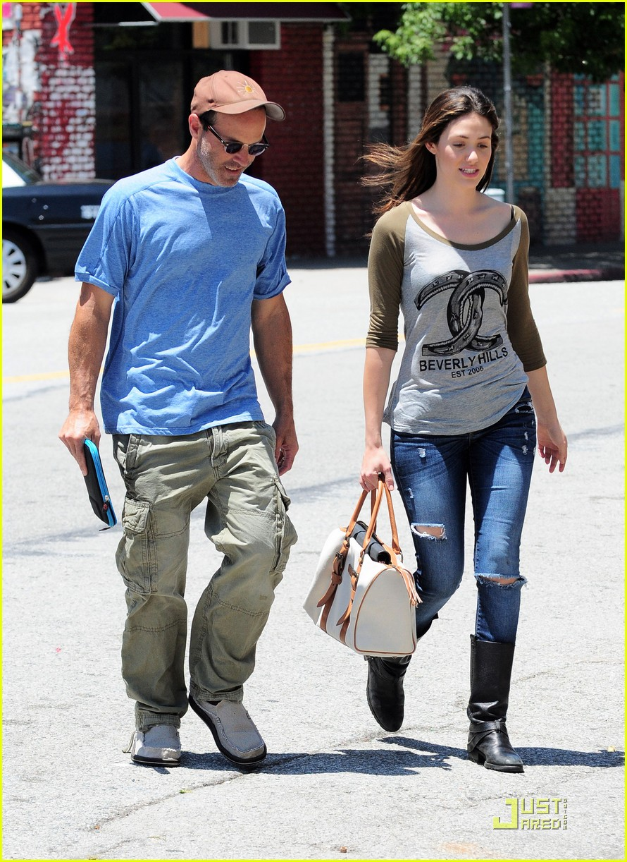 emmy rossum lunch with dj caruso 01