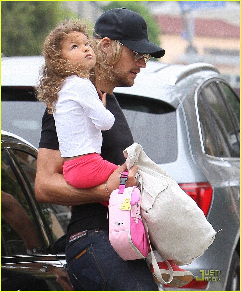 Gabriel Aubry  Daddy Duties with NahlaNahla Aubry Autistic