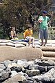 david victoria beckham kids anniversary beach 08