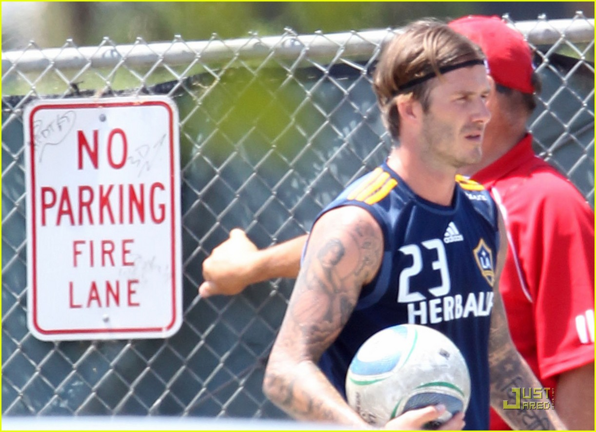 david beckham soccer practice with landon donovan 11