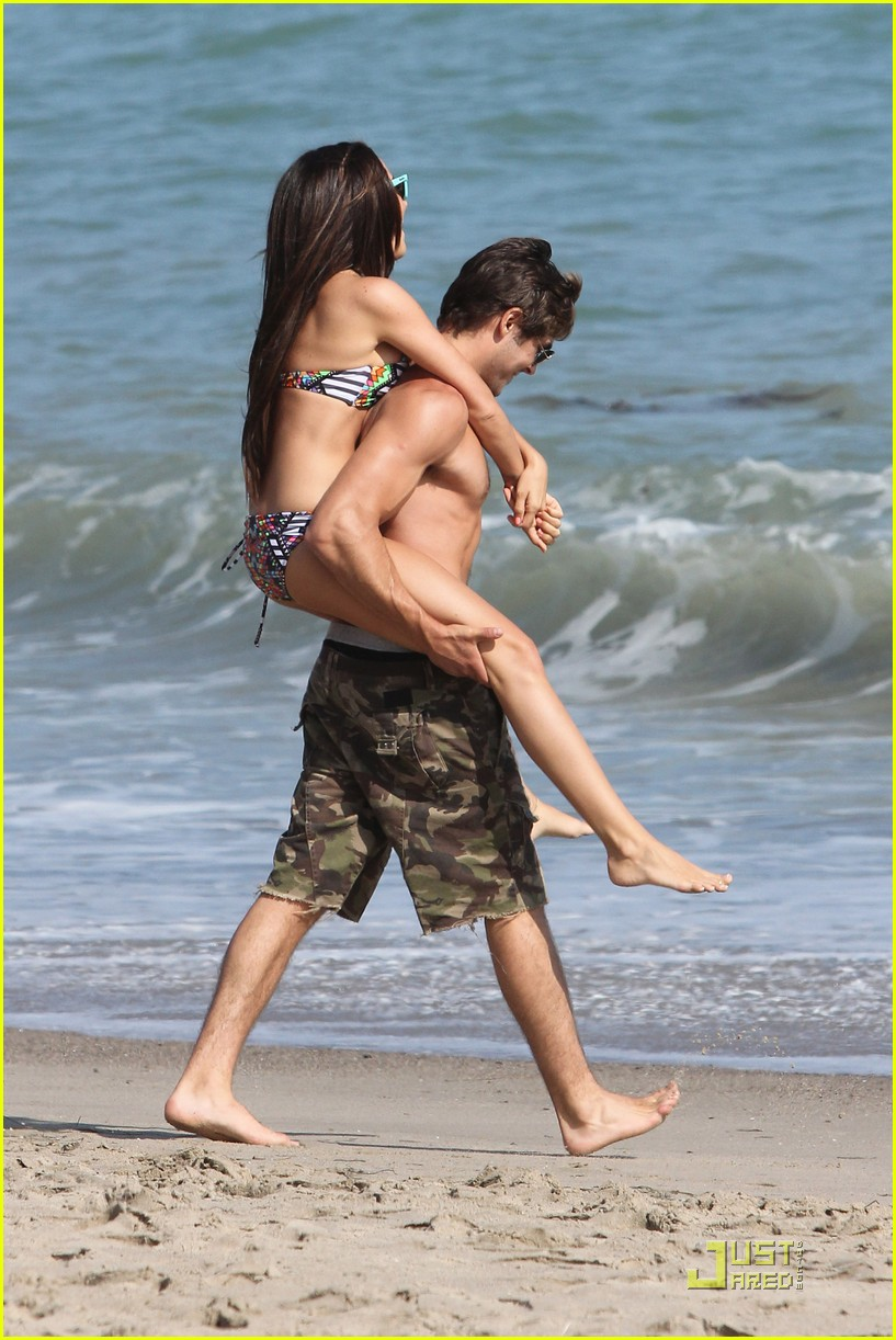 zac efron shirtless piggyback ride for ashley tisdale 19