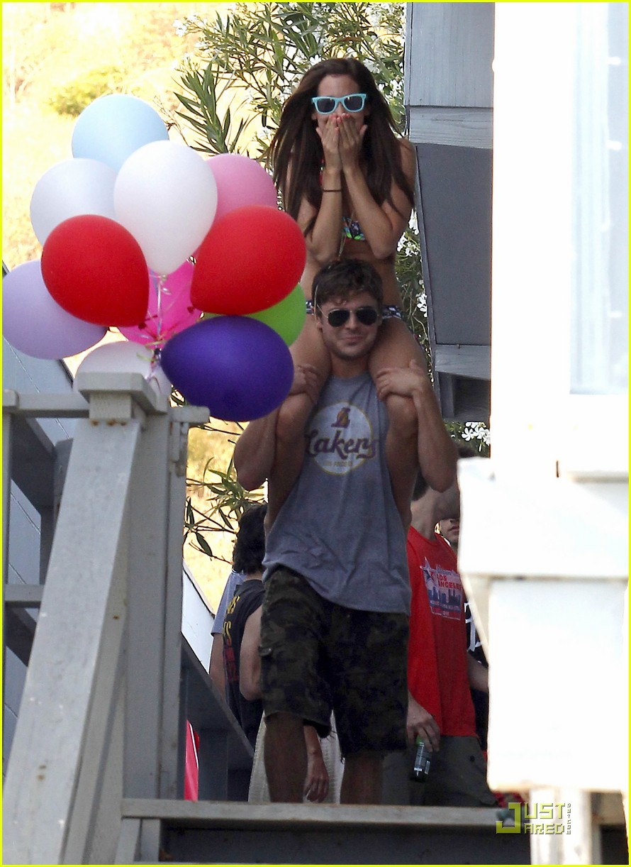 zac efron shirtless piggyback ride for ashley tisdale 33