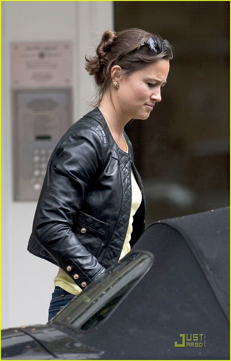 Pippa Middleton Leather Lady In London