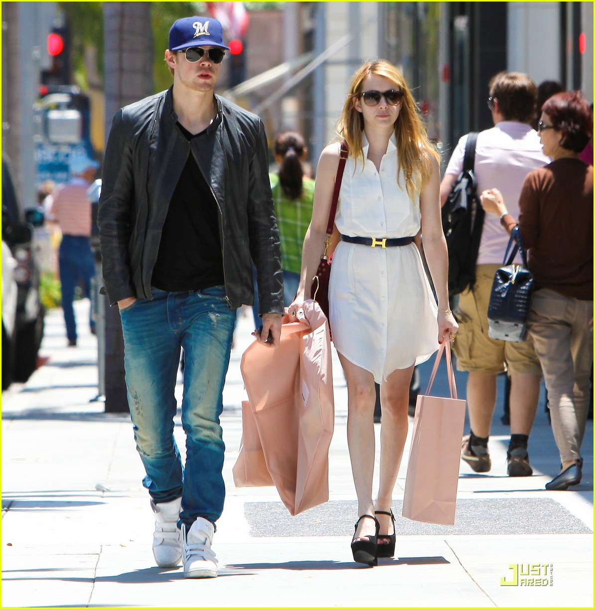 chord overstreet emma roberts beverly hills shoppers 01