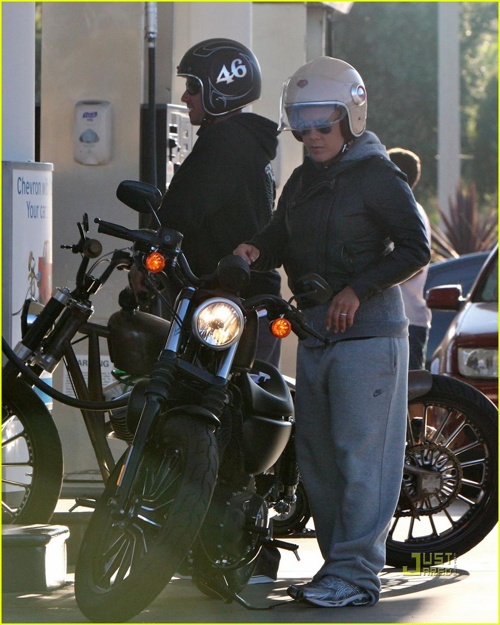 pink carey hart motorcycle 02