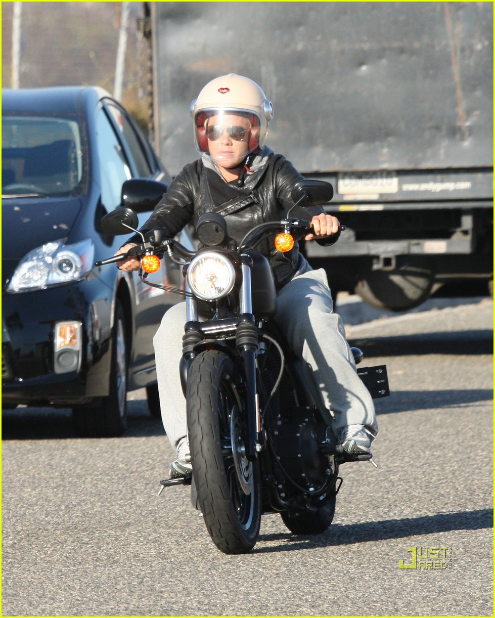 pink carey hart motorcycle 09
