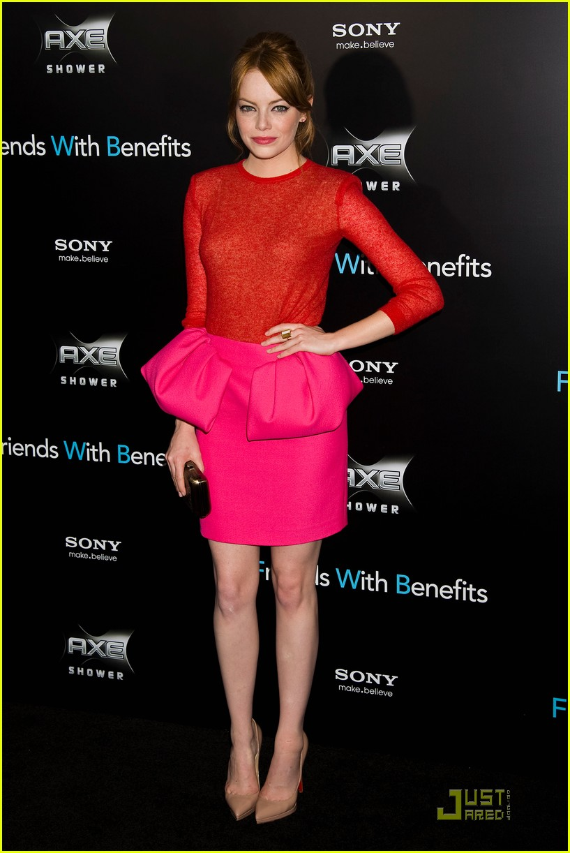 emma stone friends benefits premiere 01