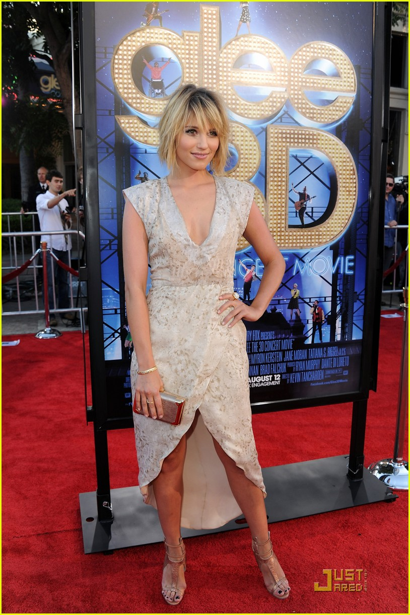 dianna agron glee 3d movie premiere 03