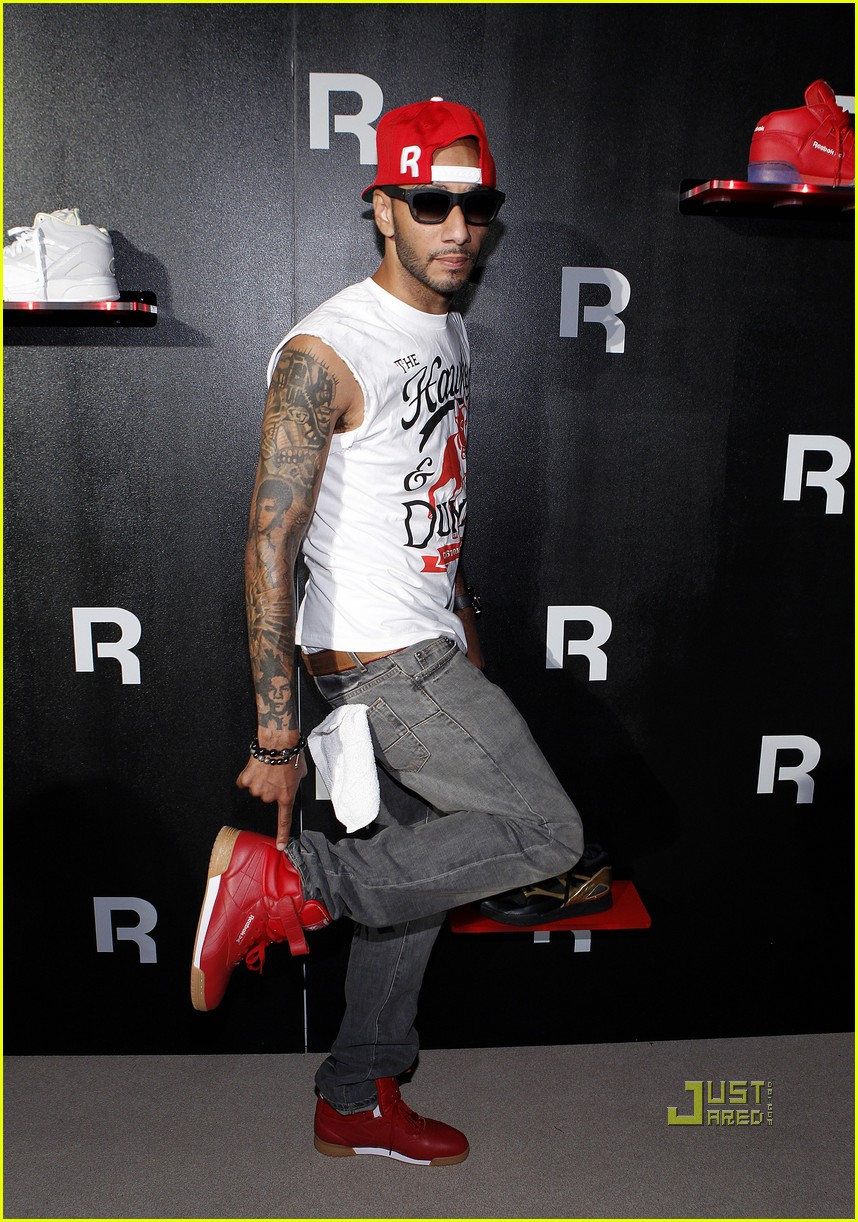 chris brown shirtless reebok party swizz beatz 022572644