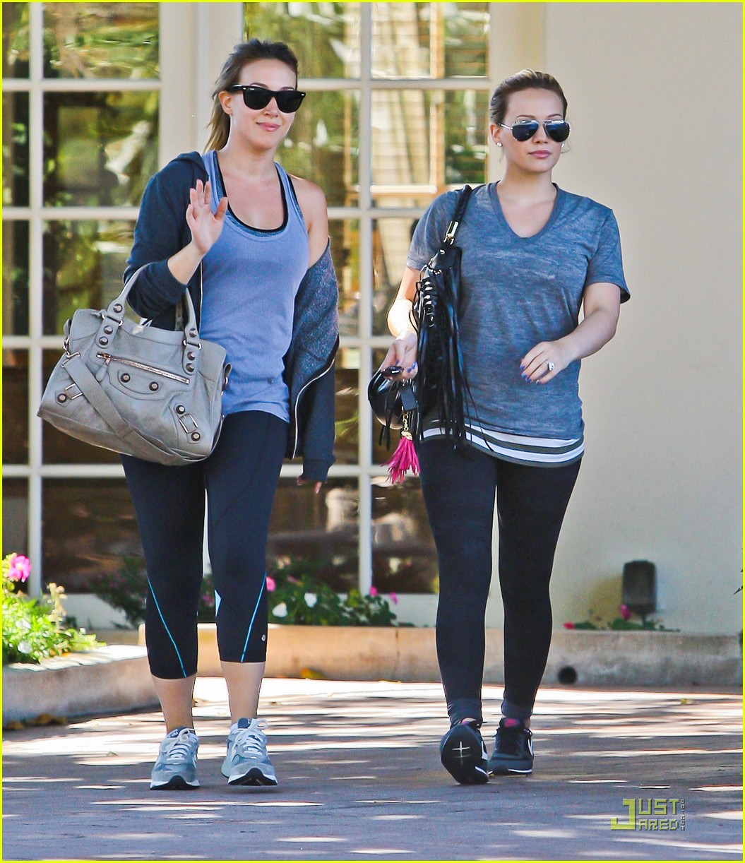 hilary haylie duff gym 04