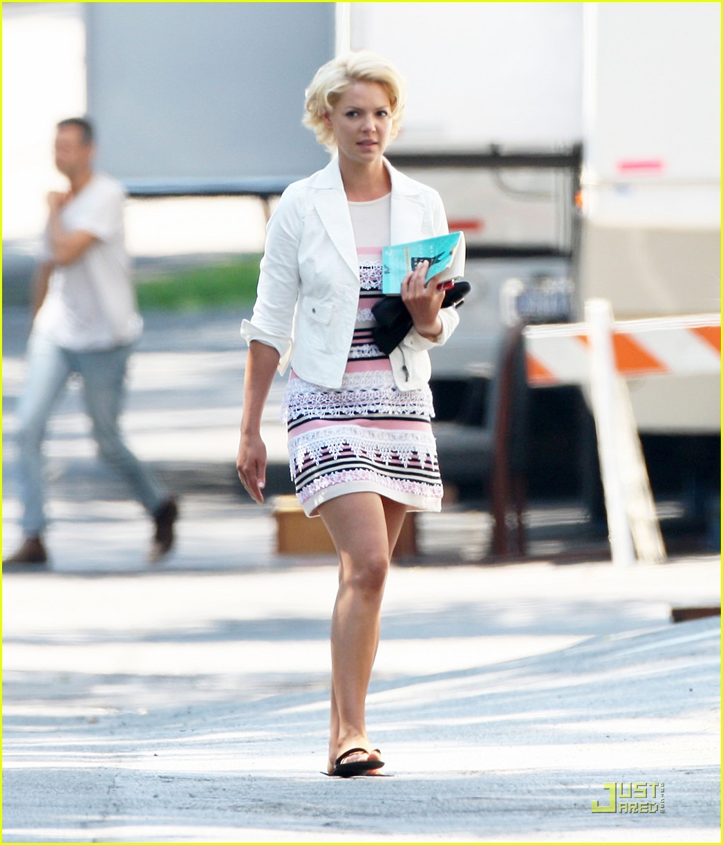 katherine heigl on set of the wedding 02
