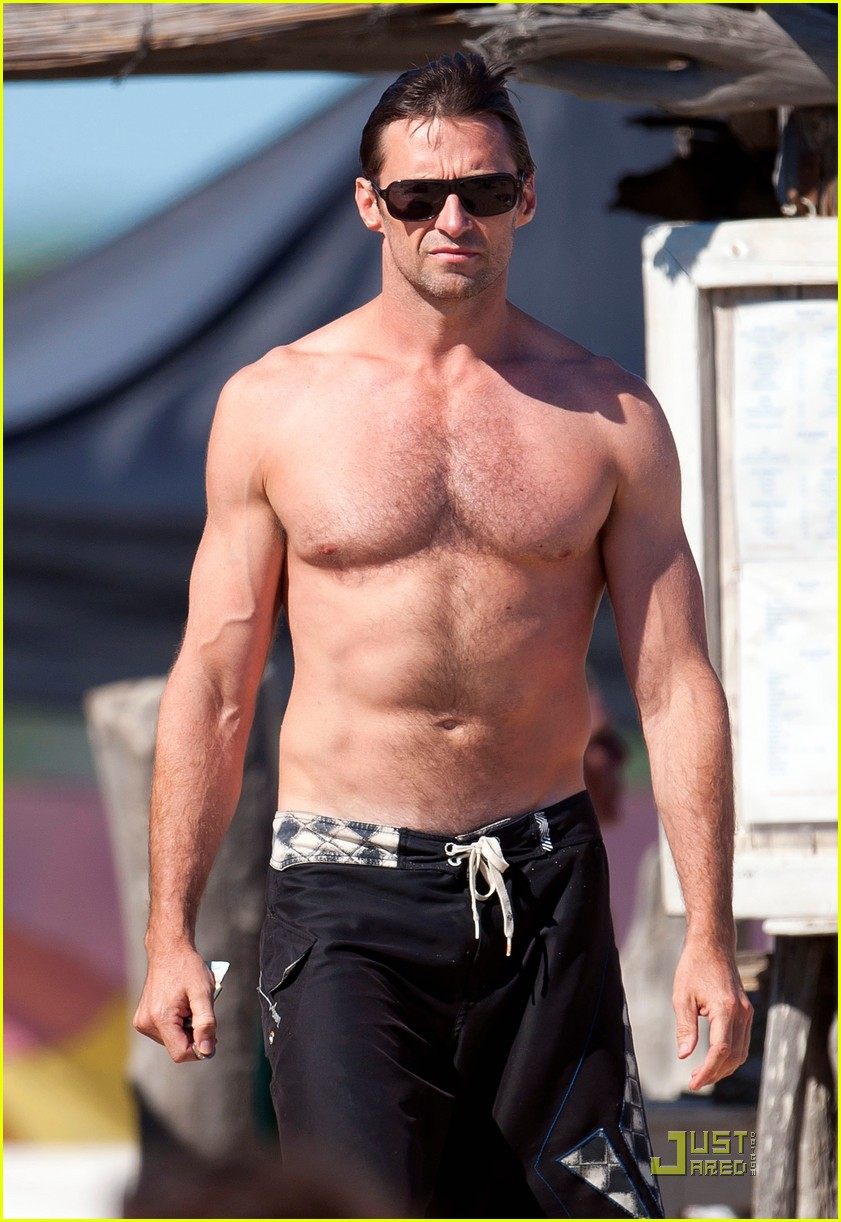 hugh jackman shirtless saint tropez 03