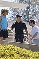 nick jonas delta goodrem go golfing 06
