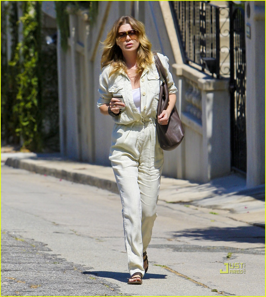 ellen pompeo jumpsuit out la 042571374
