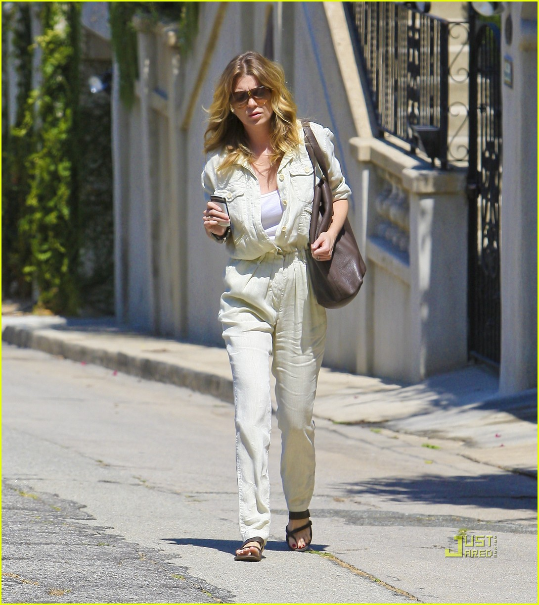 ellen pompeo jumpsuit out la 12