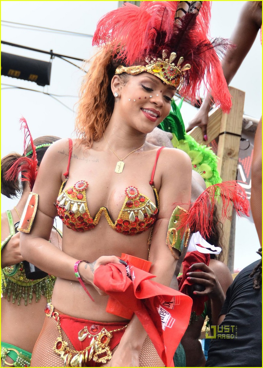 rihanna bikini kadooment day parade 02