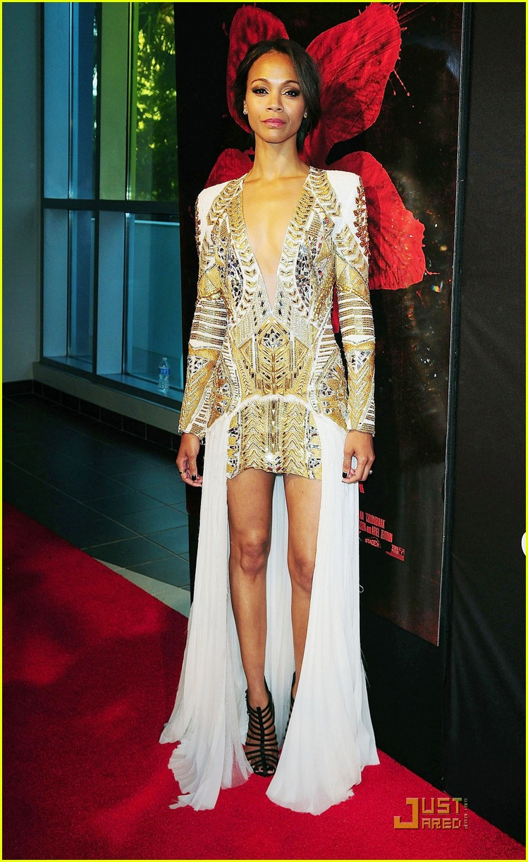Full Sized Photo Of Zoe Saldana Colombiana Miami Premiere