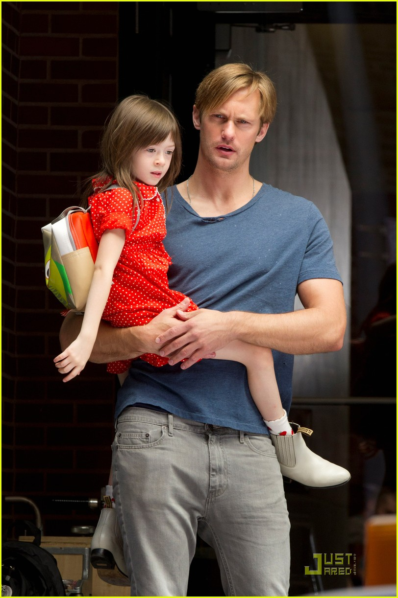 alexander skarsgard carries maisie young costar 03