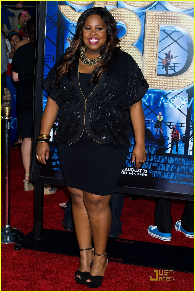 jenna ushkowitz amber riley glee 3d premiere 03