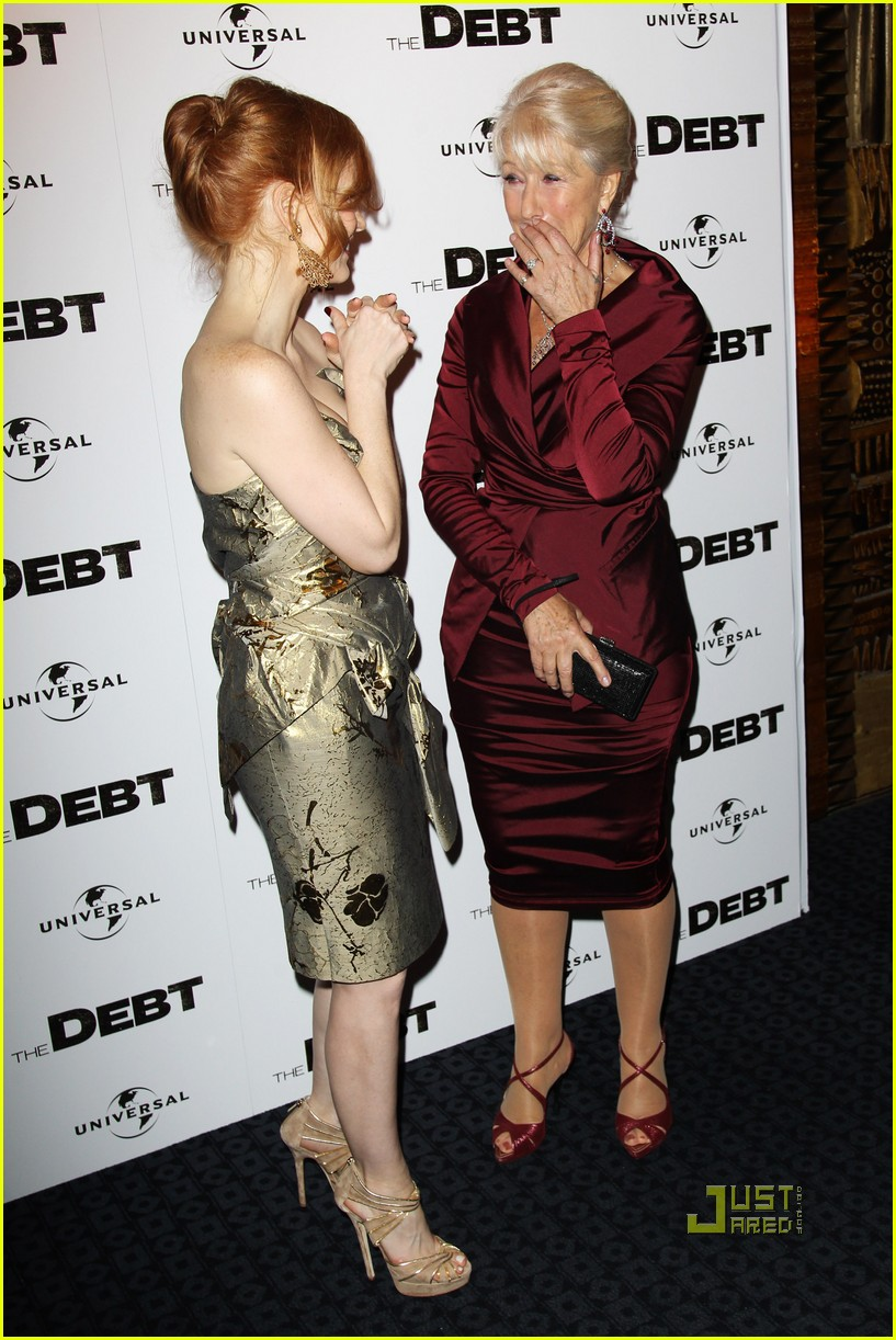 jessica chastain debt uk premiere 05