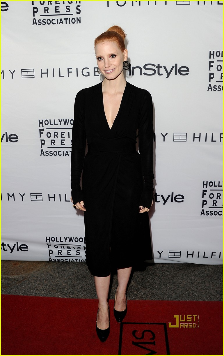 jessica chastain instyle hfpa event 10