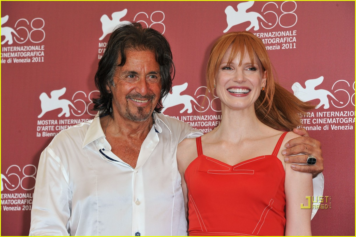 jessica chastain al pacino wild salome photo call 10