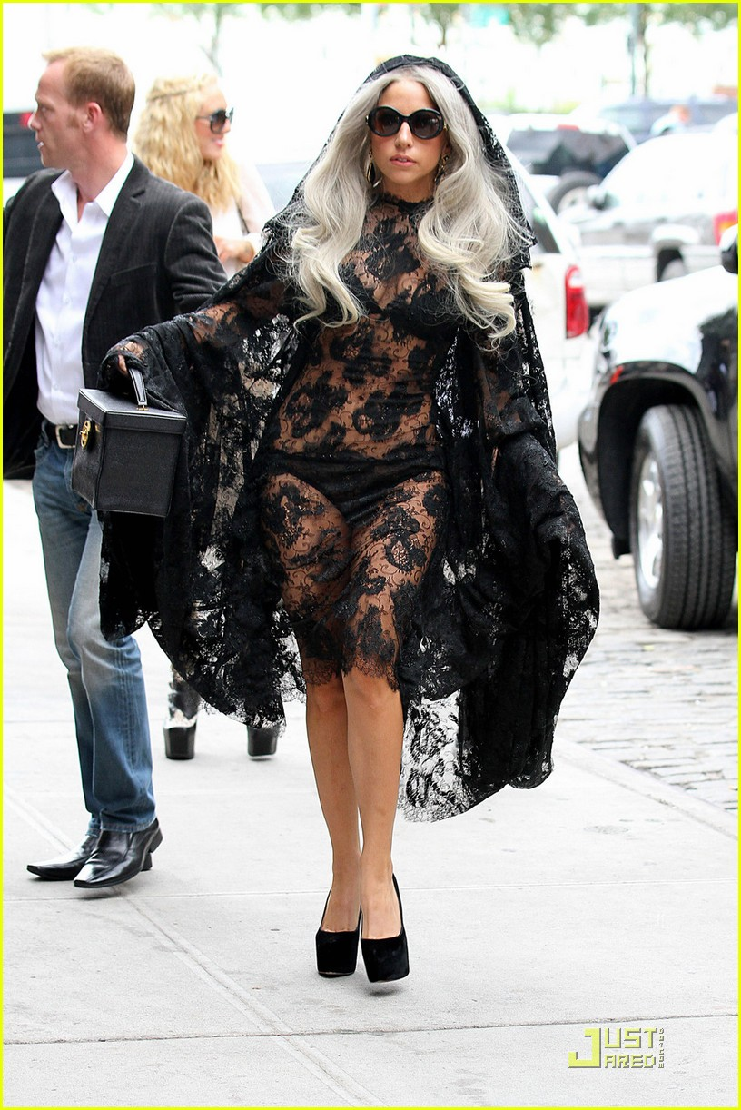 lady gaga lacy sheer dress 01