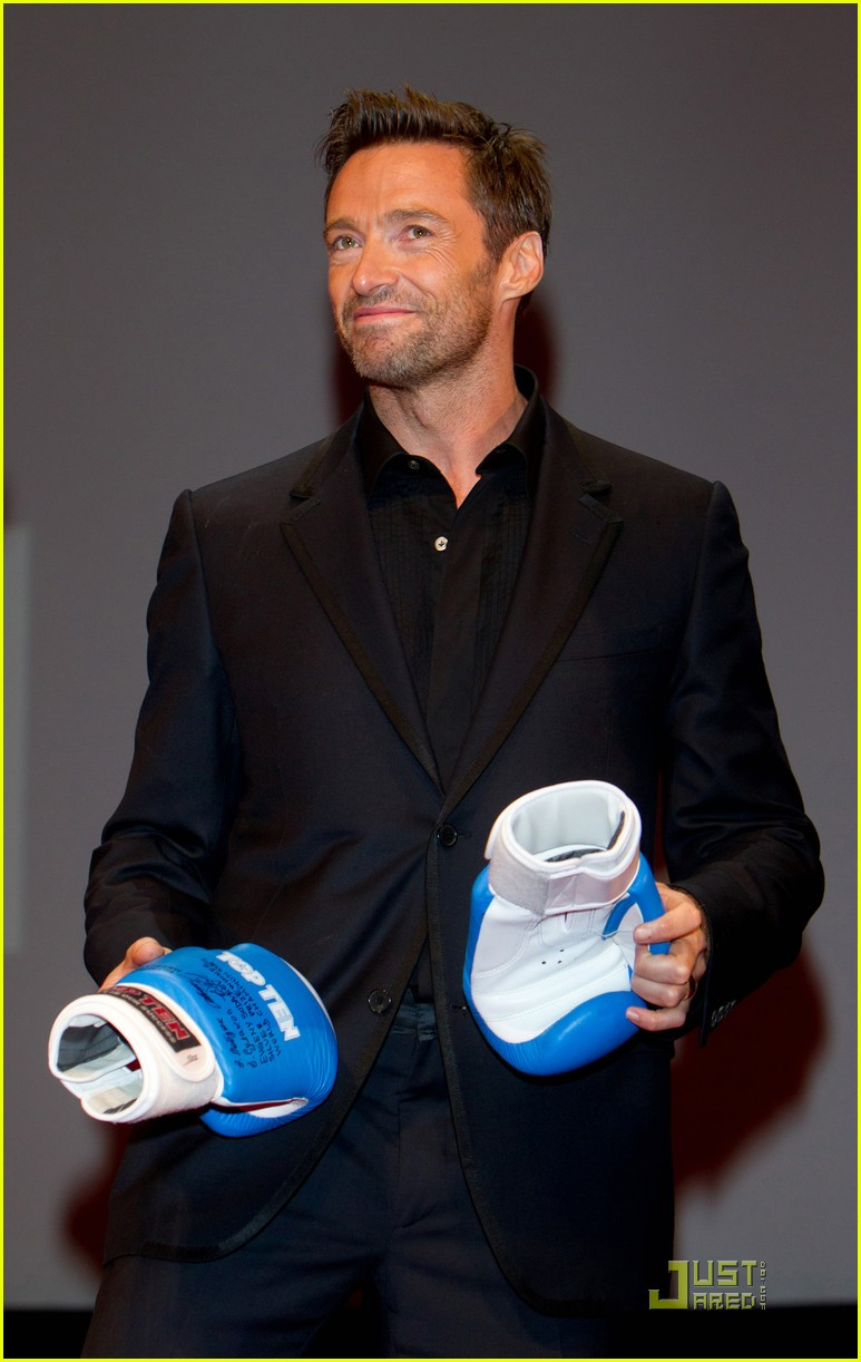 hugh jackman real steel moscow premiere 10