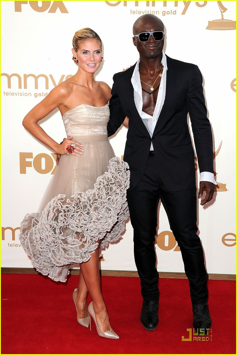 Heidi Klum & Seal - Emmys 2011 Red Carpet: Photo 2581606 ...