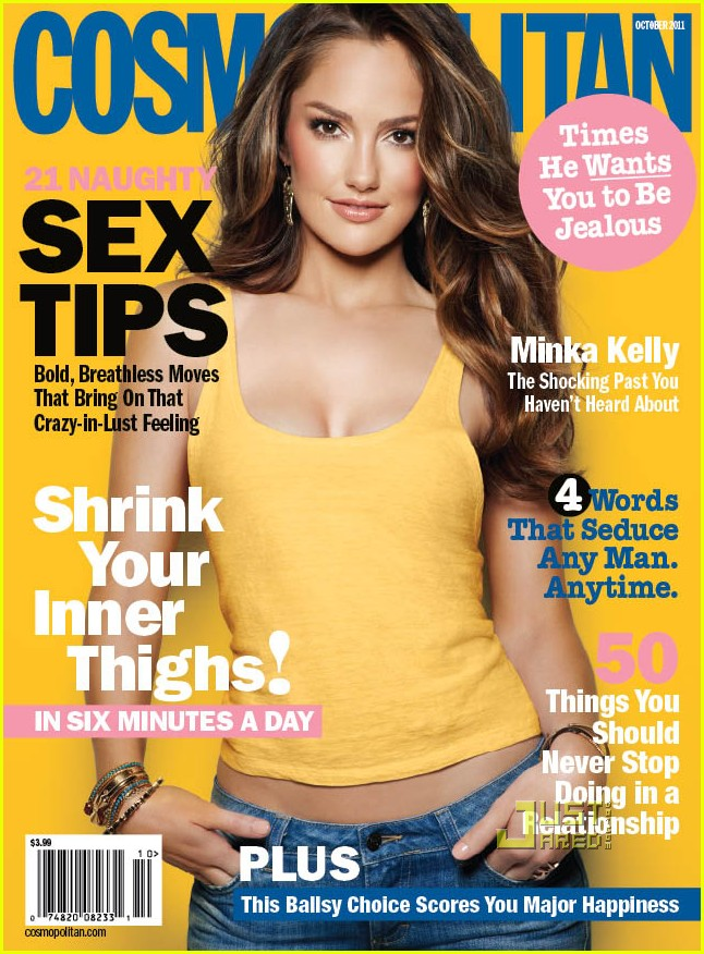 Minka Kelly Covers 'Cosmopolitan' October 2011: Photo ...