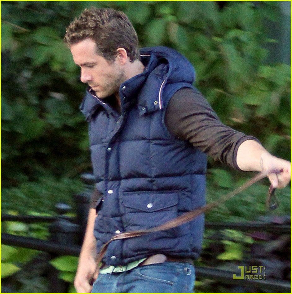 ryan reynolds walks dog 03