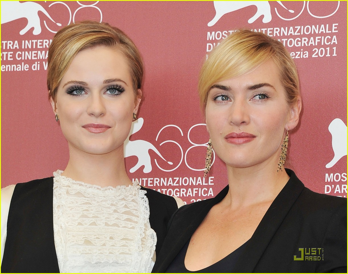 kate winslet evan rachel wood midlred pierce photo call venice 10