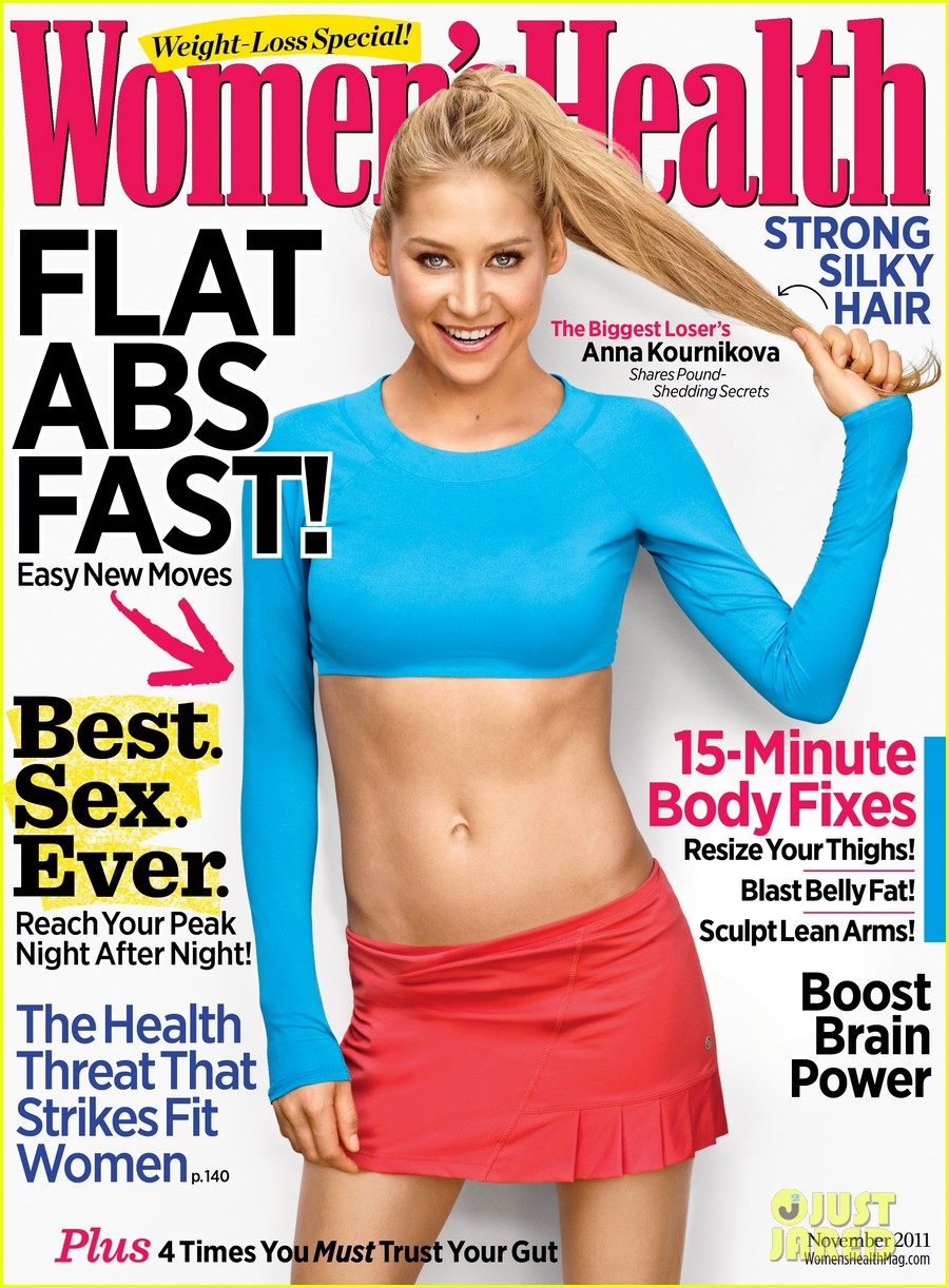 anna kournikova womens health november 2011