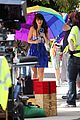 zooey deschanel rainbow umbrella 05