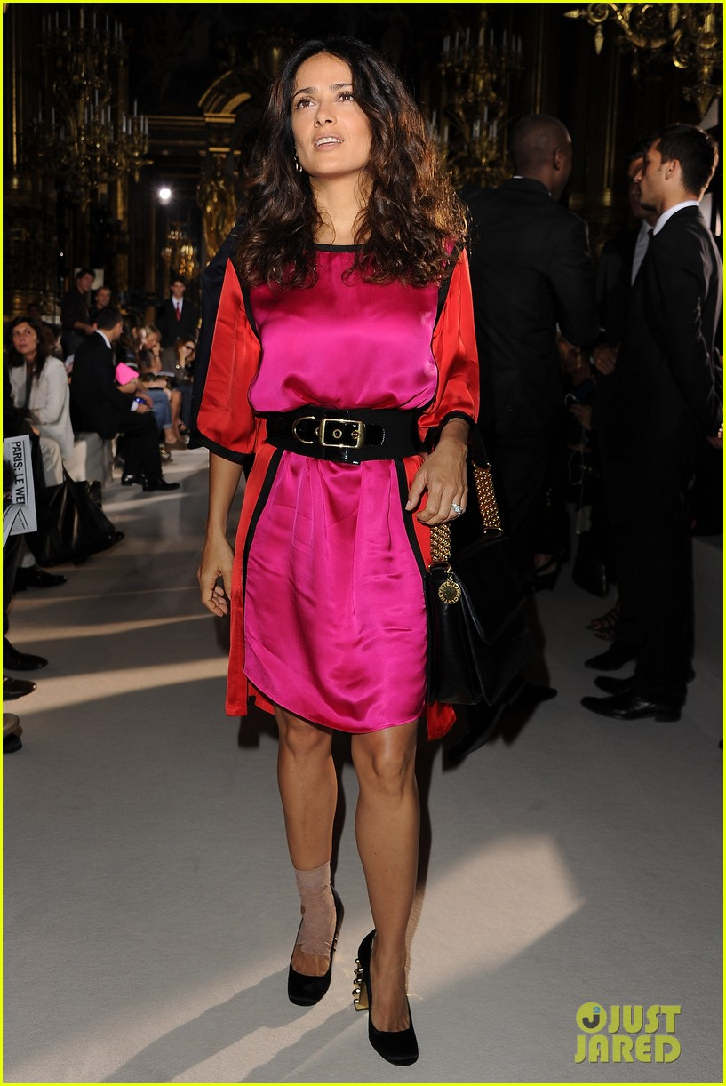 salma hayek francois henri pinault stella mccartney paris fashion week 052586306