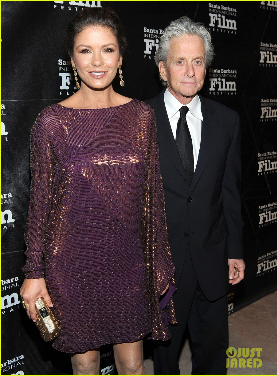 catherine zeta jones michael douglas sbiff 02