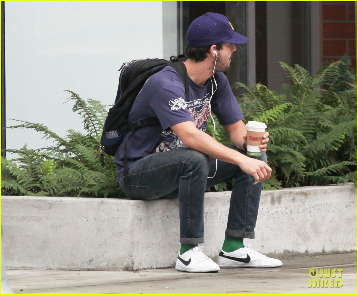 shia labeouf sits coffee 01