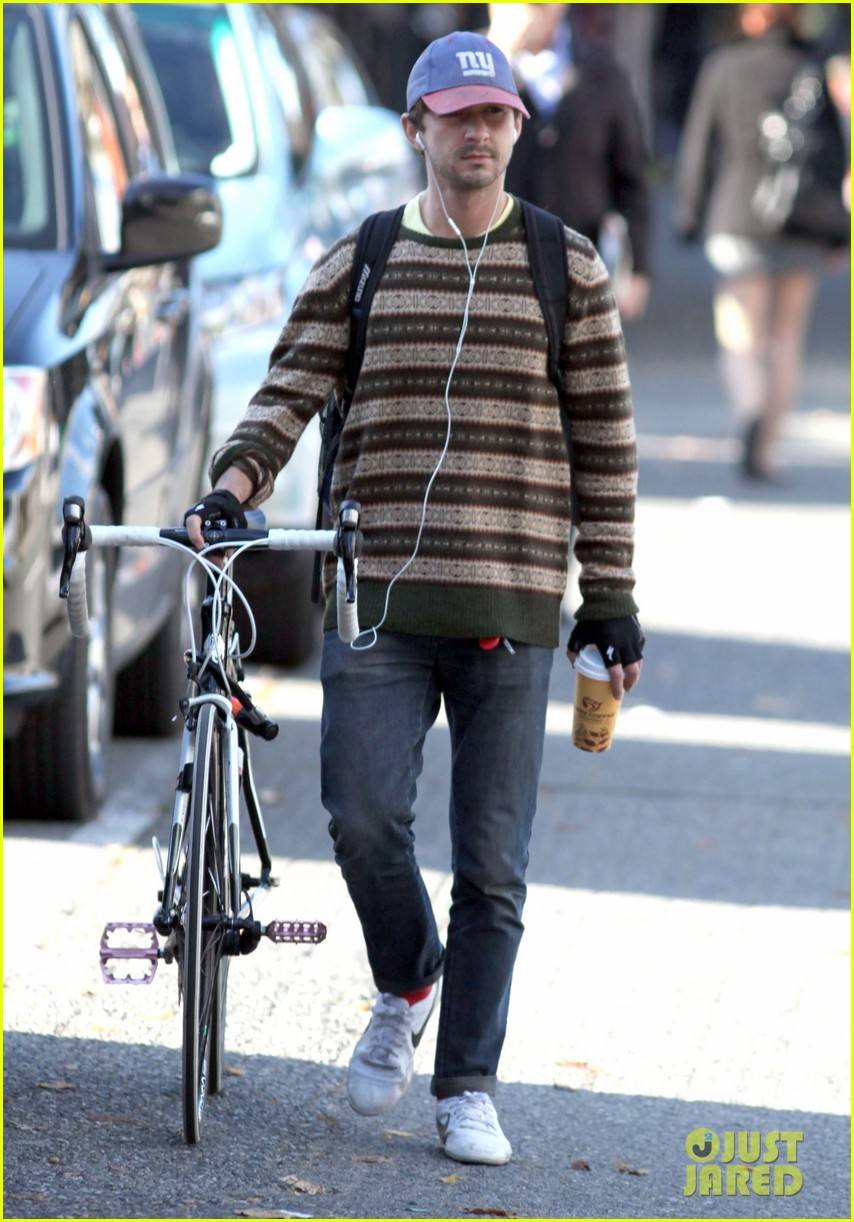 shia labeouf bike striped sweater 01