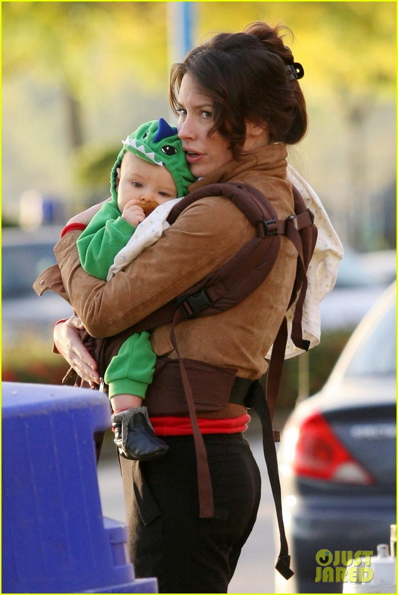 Evangeline Lilly and son