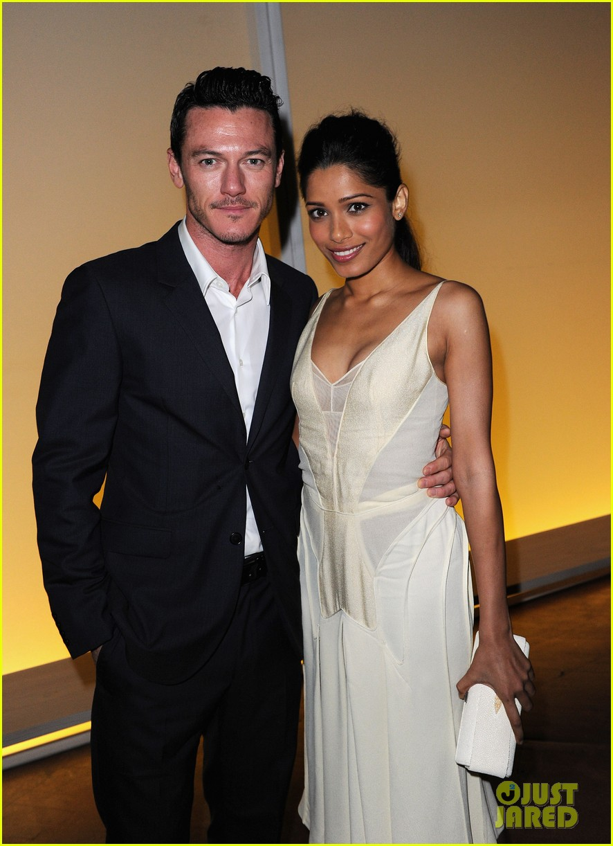 frieda pinto calvin klein dinner with luke evans 07