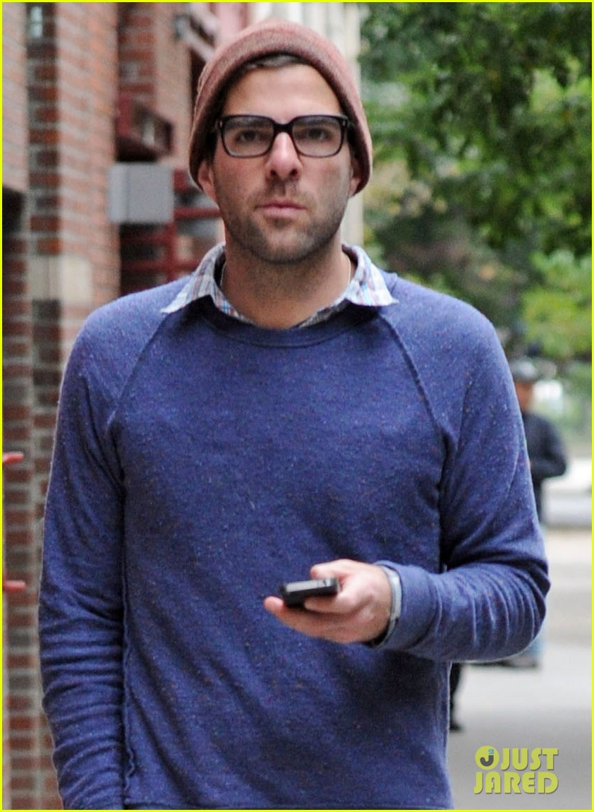zachary quinto sweater walk nyc 02