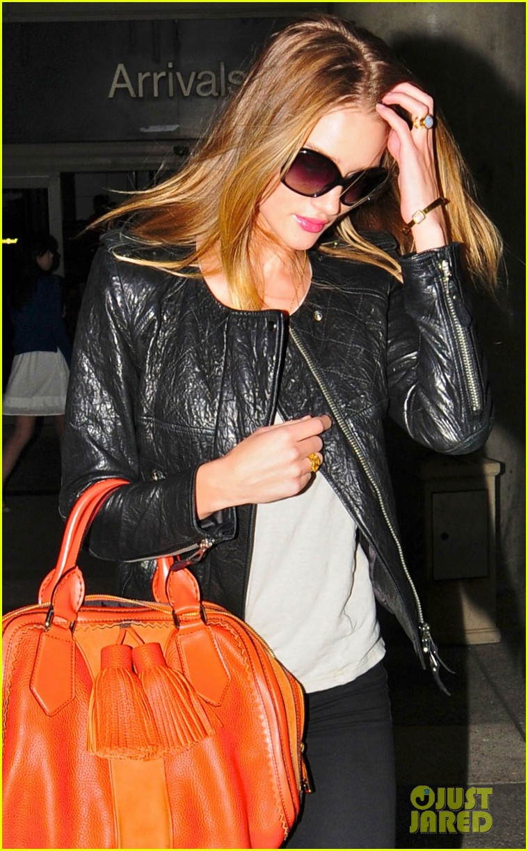 rosie huntington whiteley lax orange purse 01