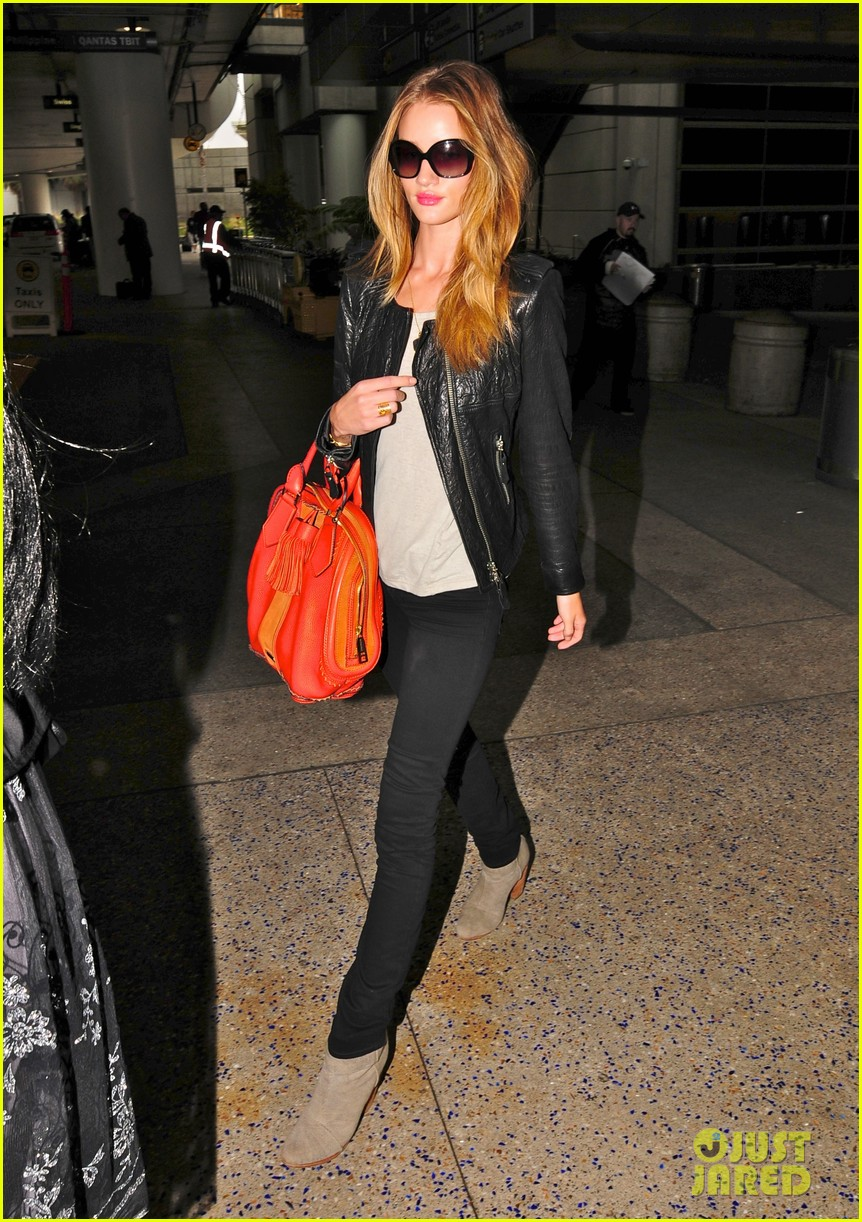 rosie huntington whiteley lax orange purse 04