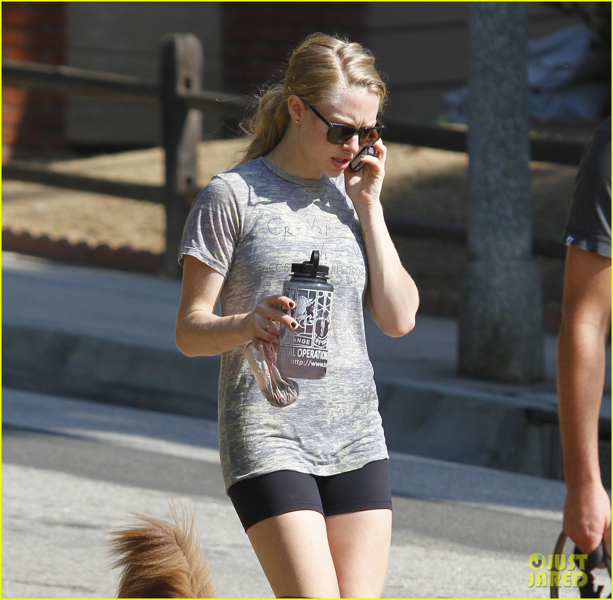 amanda seyfried dog walk friend 04