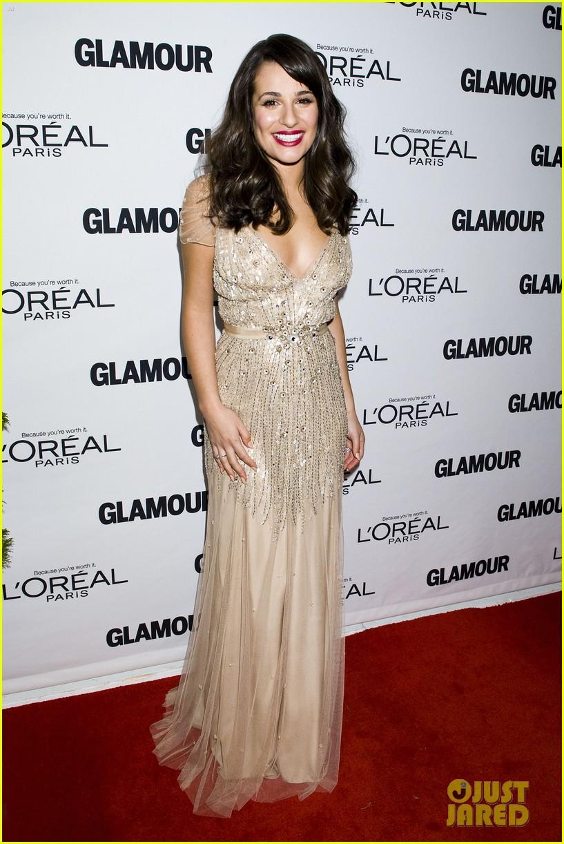 lea michele glamour awards 09
