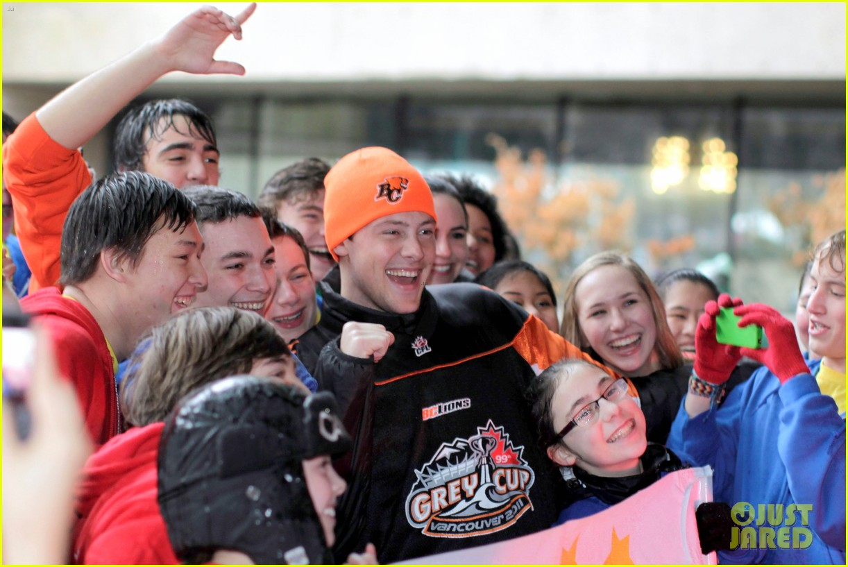 cory monteith grey cup parade grand marshal 08