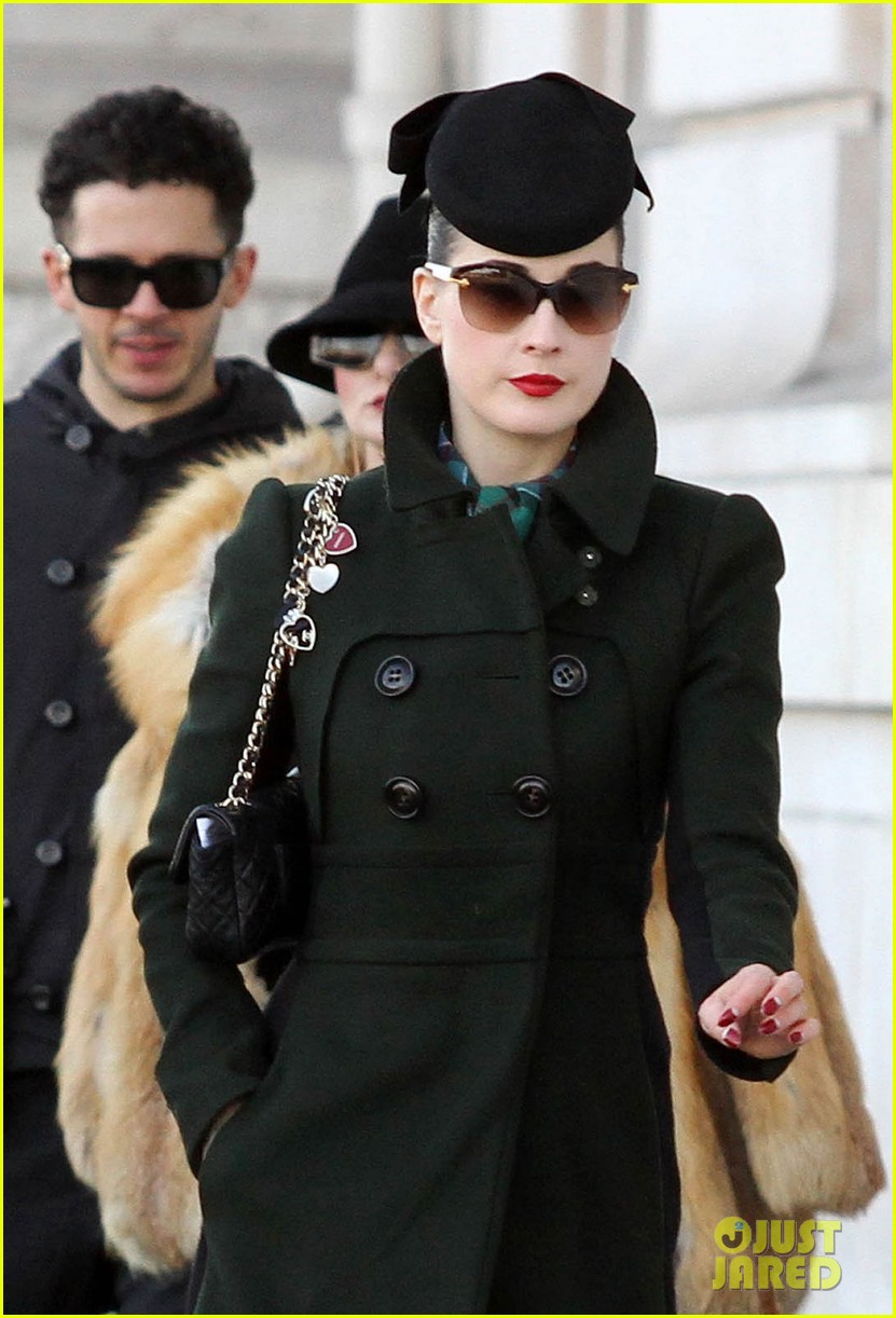 dita von teese coat paris 03