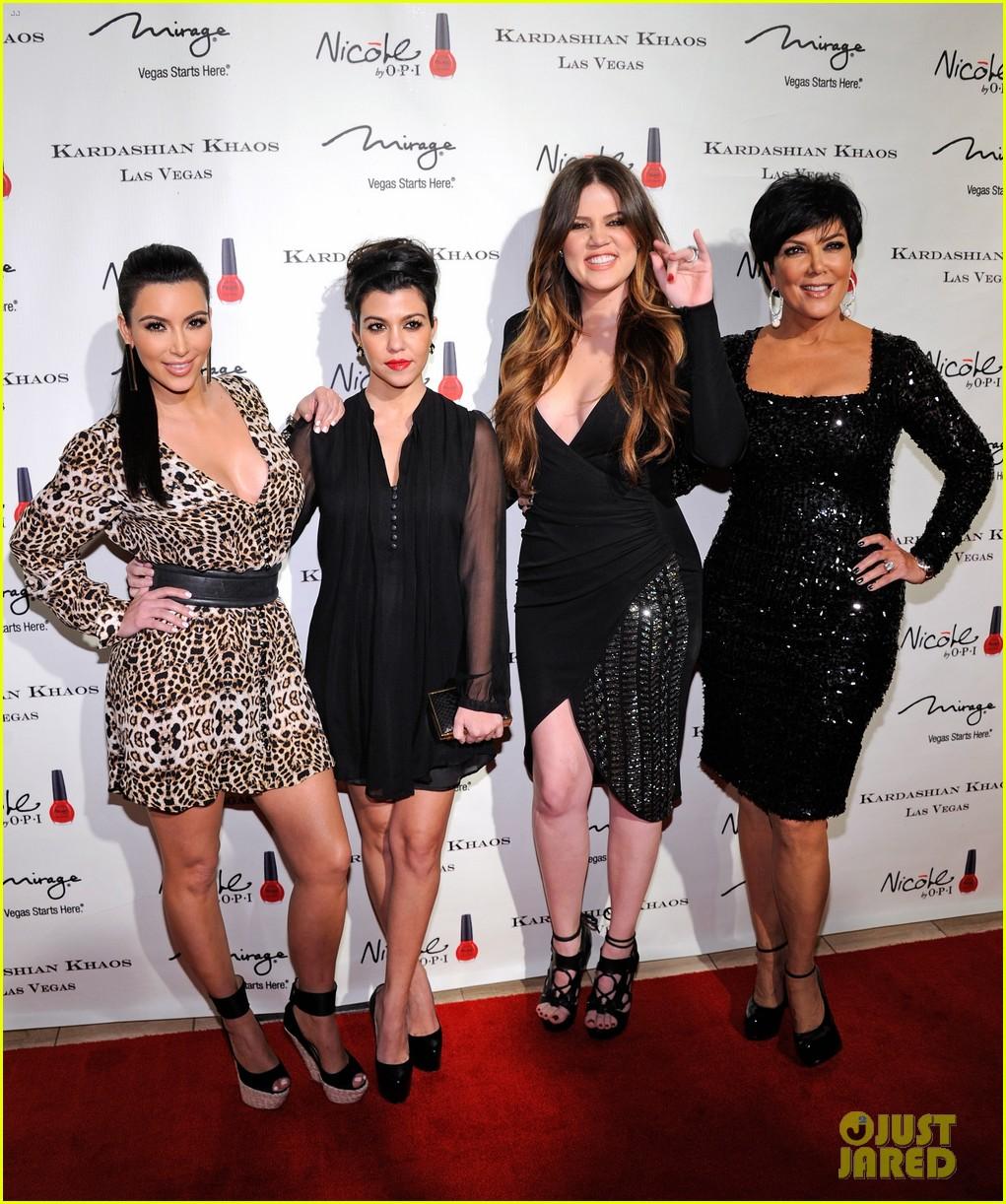 the kardashian family celebrate kardashian khaos opening 032610461