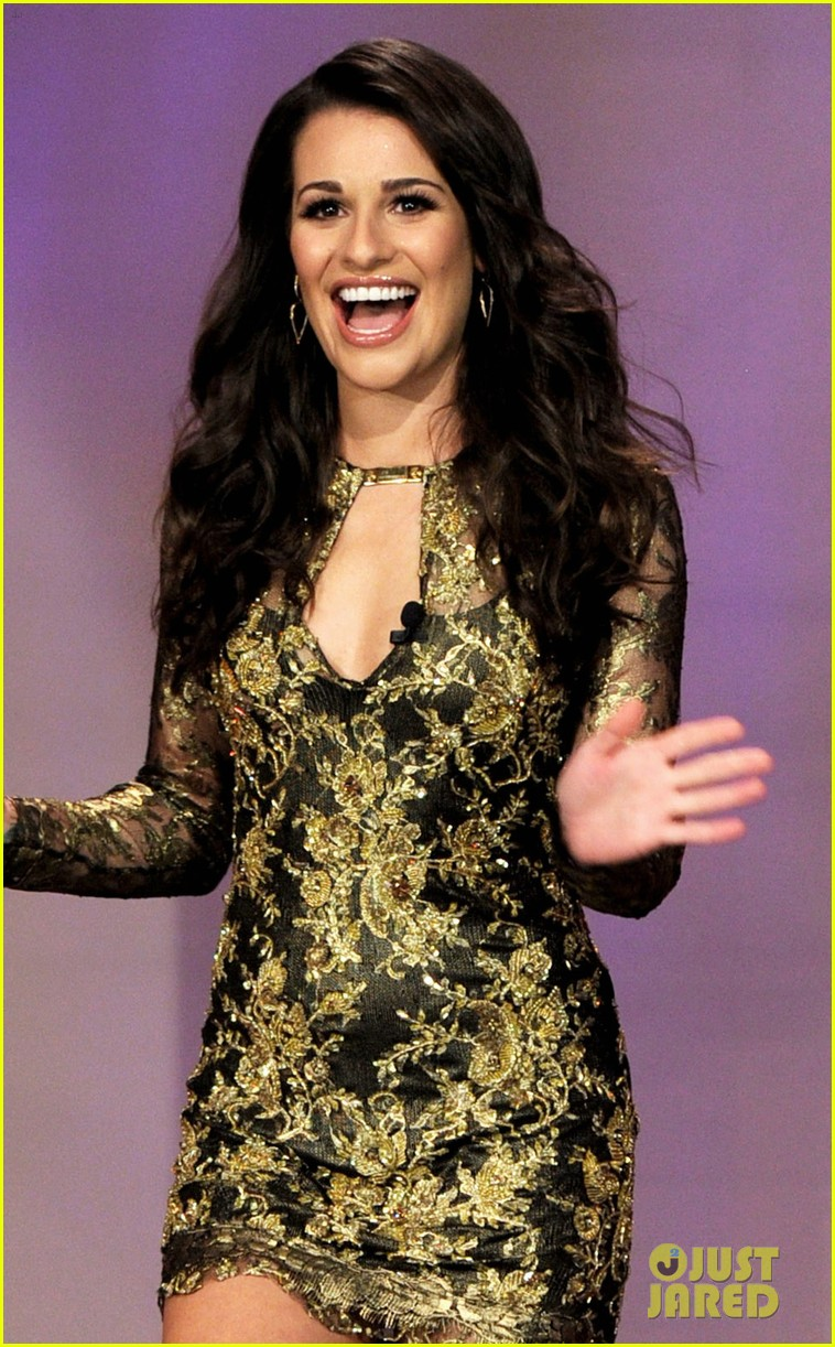 lea michele tonight show jay leno 01