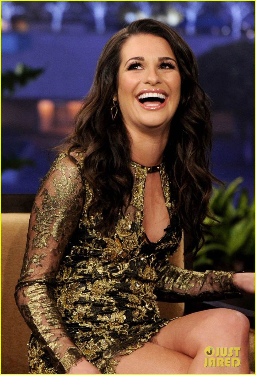 lea michele tonight show jay leno 05